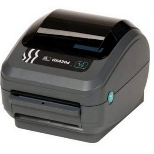Rice Lake 163195, Zebra GK420d Direct Thermal Label Printer with Ethernet Option, 4 in Wide, 203 DPI, 100 - 240VAC