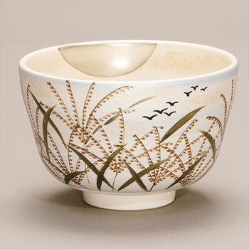 The Popular and new products Autumn tea bowl susuki ni gan with Tea utensils made in Japan