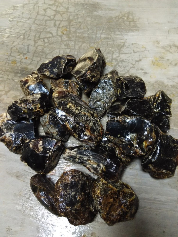 Raw Indonesian Amber Dark Red with fraction 50 - 99 gr