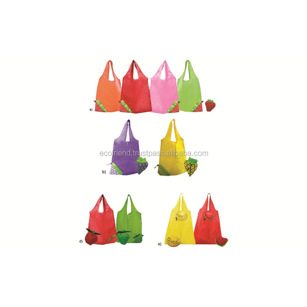 50pcs Nylon Strawbery Foldable Bag (B0022)
