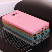 New Arrival TPU Clear Transparent Soft slim phone case for samsung galaxy note5