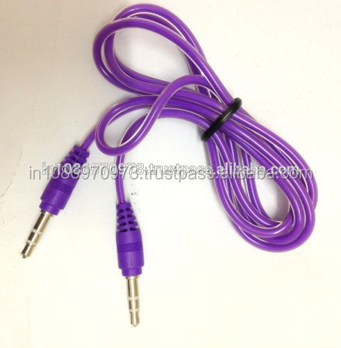 Wholesale Storite 3.5mm Male to Male Stereo Audio Cables - For Smartphone, Android Phone,Tablet, Desktop Computer - 1m (Purple)