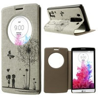 Special Window View Leather Stand Case with Perfume Smell for LG G3 S D722 D725