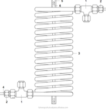 Tube in Tube Heat Exchanger (Copper or SS)