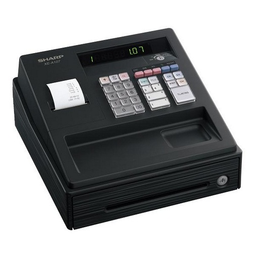 HOT SELLING HIGH QUALITY ENTRY LEVEL SHARP ELECTRONIC CASH REGISTER MACHINE ECR XEA-107