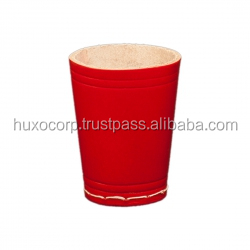Vegetable Tanned Red Leather Dice Cups, 90MM high, 70MM diameter (WITHIN 80EURO CENTS)