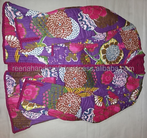Wholesale Indian Hand Block Printed Quilted Cotton Jacket Women's winter wear