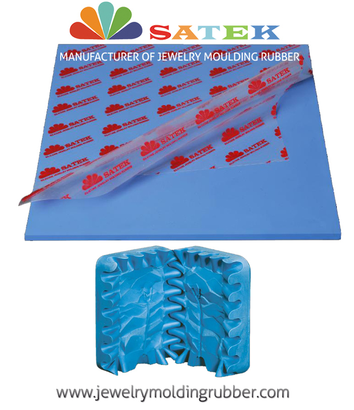 Satek Blue Silicone Jewelry Molding Rubber