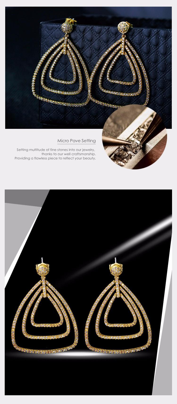 White zircon earrings