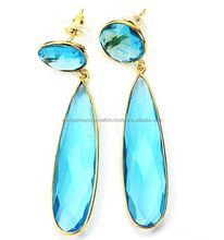simple gold earring designs for women 925 sterling silver gold plated earring