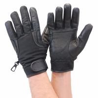 Lightweight Perforated Leather and Nylon Riding Glove