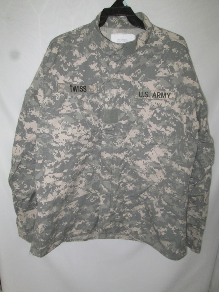 Used ACU Camouflage Camo Digital Army Uniform Military Camo Coat /Jacket