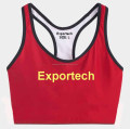 Sports bra ladies with custom printing, breathable gym bra