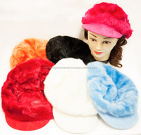 Faux Fur Assorted Colored Newsboy Hat Fashion Hats