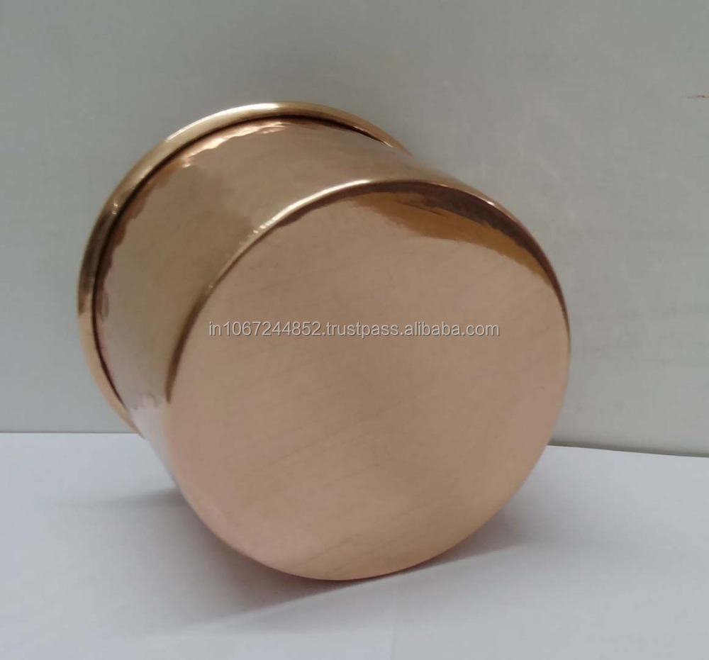 Copper Hammered Serving Bowl