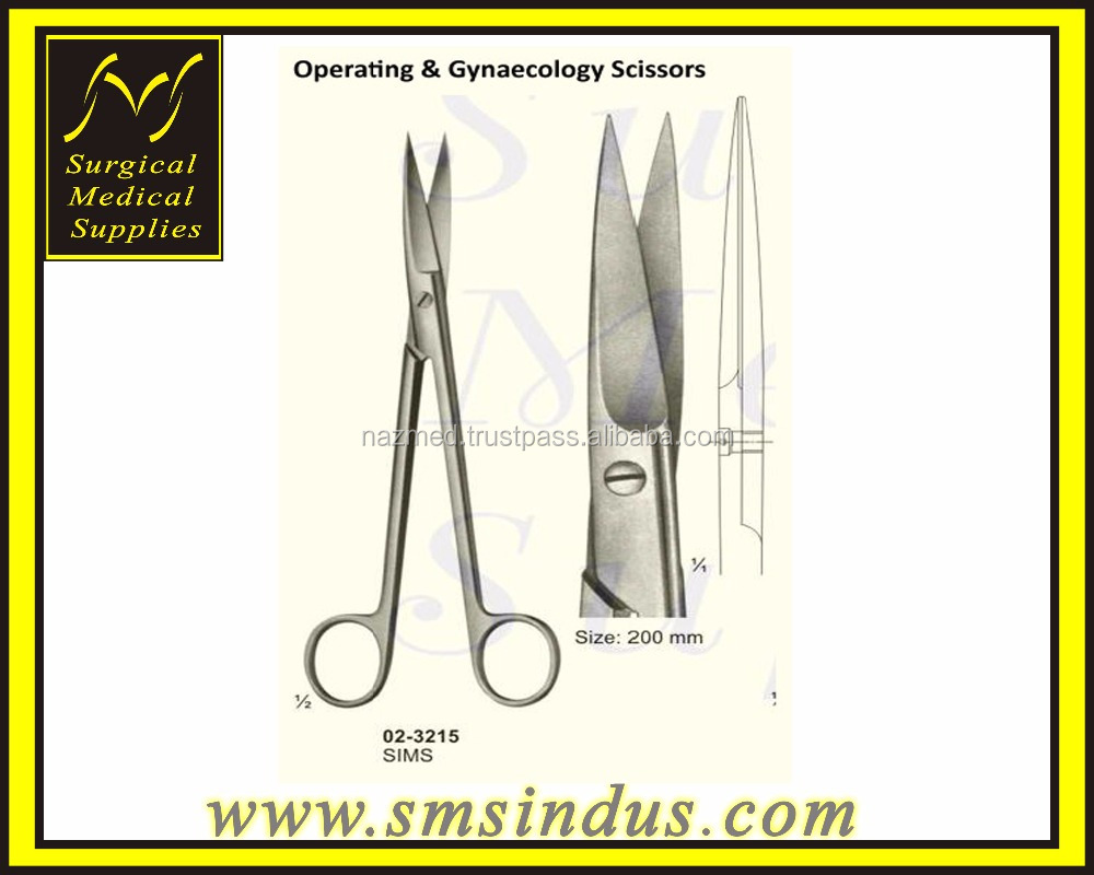 Sims Uterine Scissors Sharp/Sharp