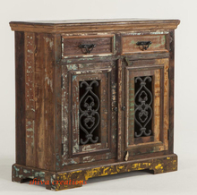 Living room furniture reclaimed wooden cabinet