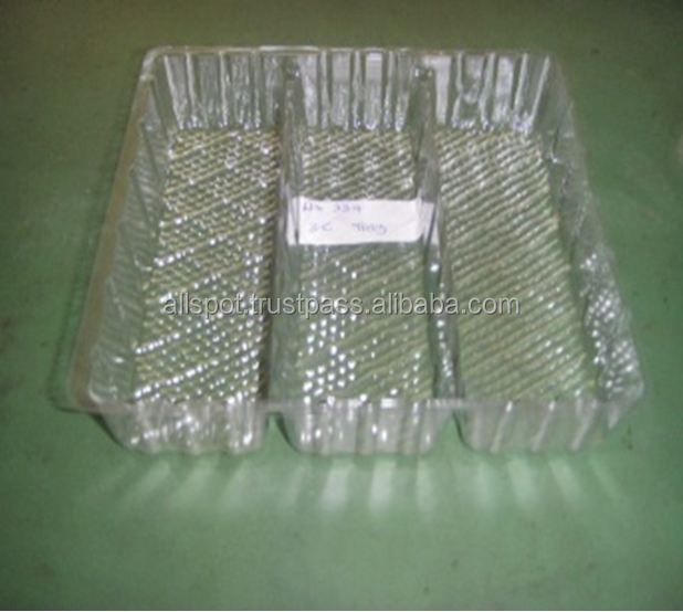 Plastic Food Tray, Food Container, Rectangle 3 cavity