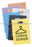Custom die cut handle print your own logo/ high quality die cut hdpe ldpe plastic bag