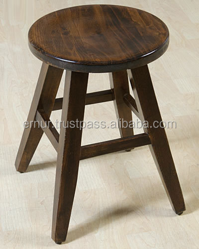 Wooden Stool - Turkish Made - Turkish Quality - Polished