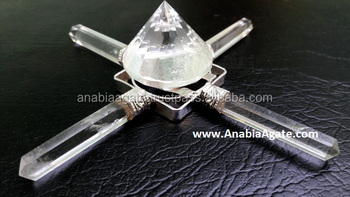 Crystal Quartz Healing Energy Generator With crystal Dimond
