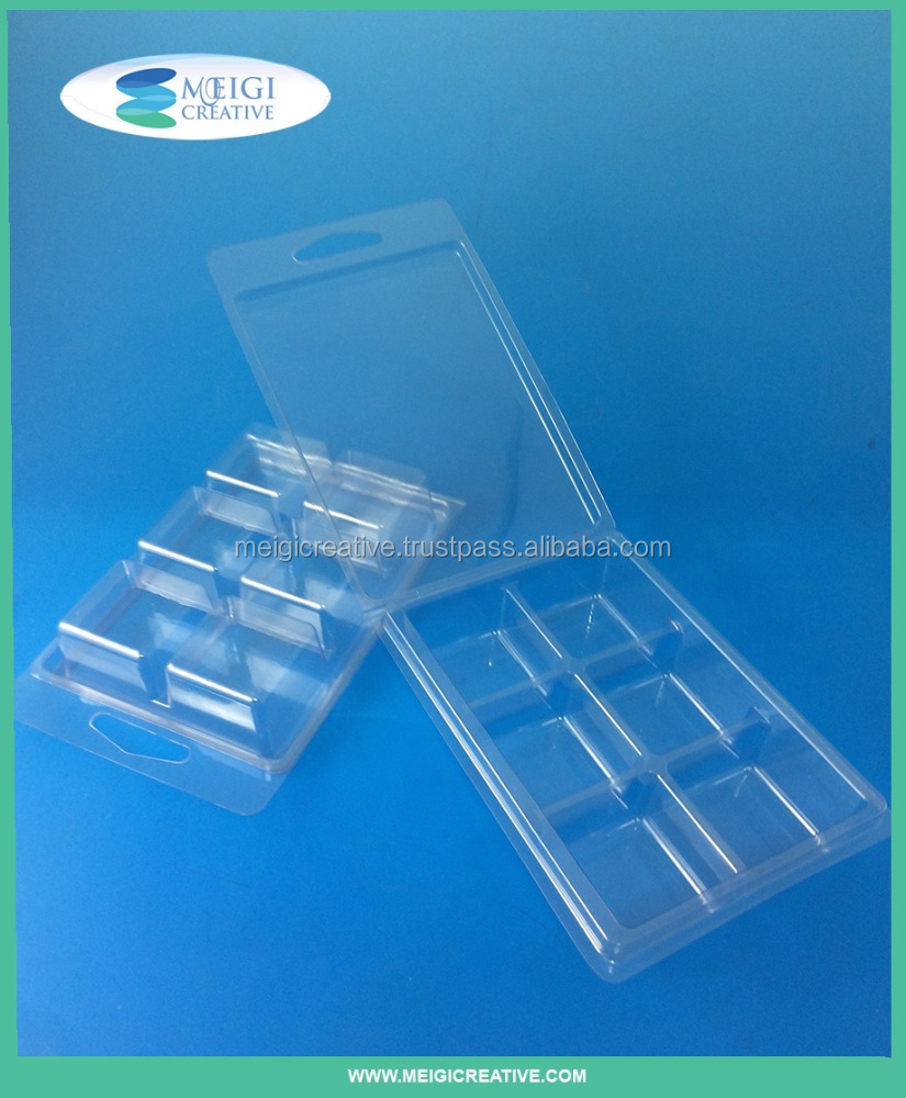 Clear Custom PET Plastic Clamshell with Key Hole for Retail Display