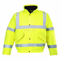 hi-vis waterproof 3m safety reflective jacket for Workers of big companies , cheap safety jacket . safety bomber jacket