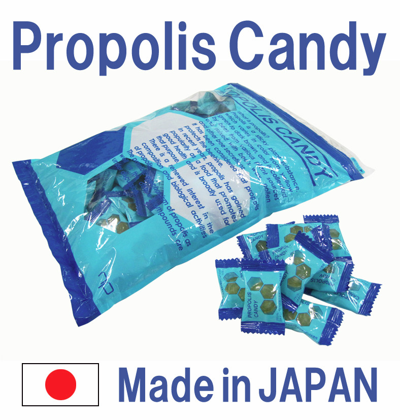 Original method propolis candy which exerts similar action as korean red ginseng candy , small lot oreder available