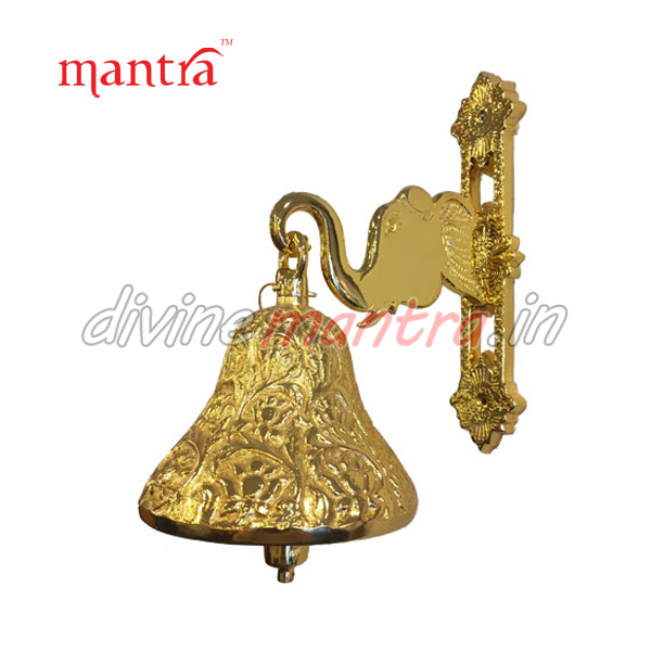 Religious Bronze Bell ( 24 kt Gold Plating )