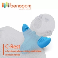 Benepom C-REST/Cushion/Massage/C-curve/Travel Neck Pillow/Neck Massage Pillow