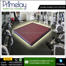 Noise Reduction Outdoor Rubber Tile Floor Gyms