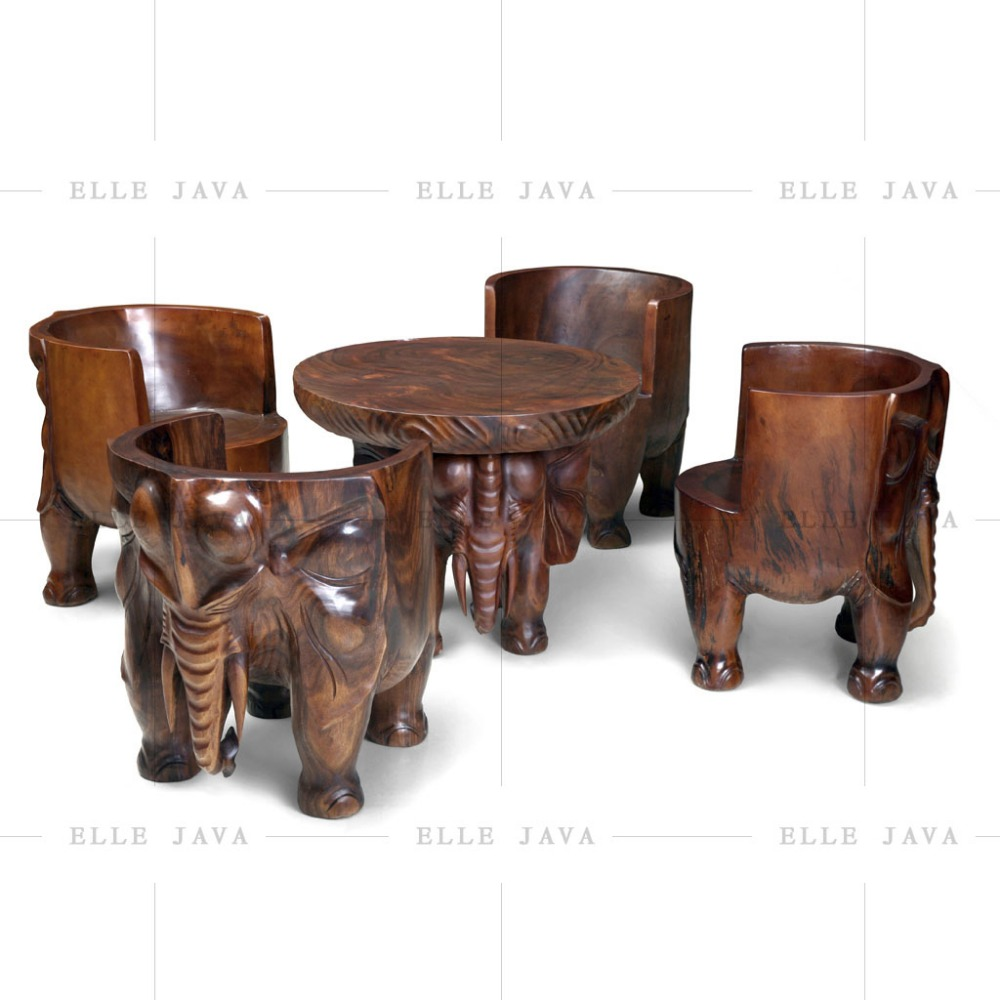 Wood Furniture Set of 5 Garden Furniture
