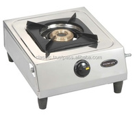 commercial kitchen equiment single brass burner gas stove