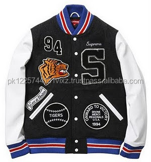 2017-2018 best price wholesale Custom logo baseball letterman varsity wool leather jacket, wool with