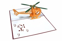 3D card for him/Helicopter - FS027/Hot sales/Pop up Card for Friendship/ Pape cutting Vietnam/3D handmade for Birthday