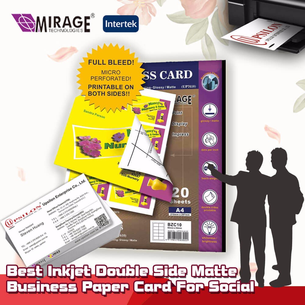 Diy Double Matte Inkjet Printing Business Card Paper For A4