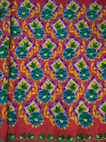 Multi color Chain Sitich Embroidery Fabric / Embroidery Lace Fabric