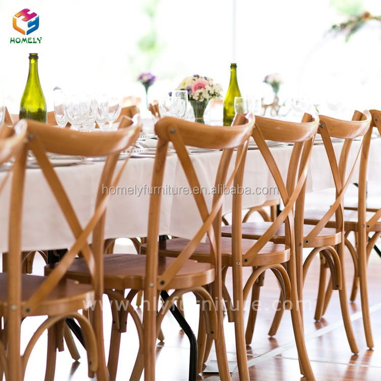 Restaurant furniture metal cross back chair