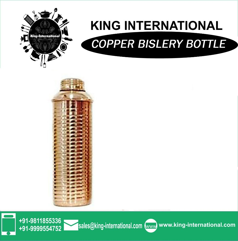 Sports items Copper single wall sports Copper Bislery Bottle Plain / new products vacuum Copper