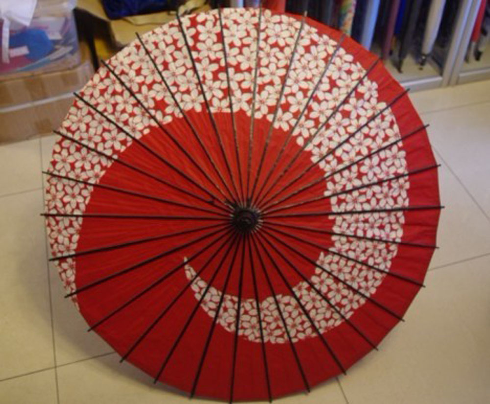 Japanese oile paper umbrella with cherry blossom