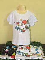 T-shirt painting craft children from girl 4 years