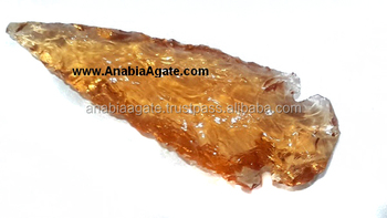 Glass Arrowhead for sale : Orange Color Glass Arrowhead : 6 inch glass arrowhead