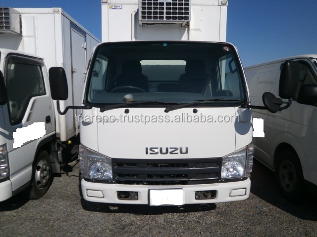 USED CARS FOR SALE FOR ISUZU ELF TRUCK 2009 WITH REFRIGERATOR & FREEZER (MODEL : BKG-NKR85AN, ENGINE : 4JJ1)