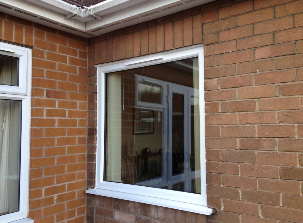Indian Supplier Polywood White Europe design Fixed UPVC Windows