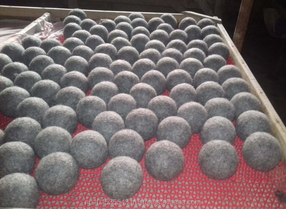 25% Energy saving Laundry dryer ball/felt wool dryer balls/ eco-friendly felt wool dryer balls