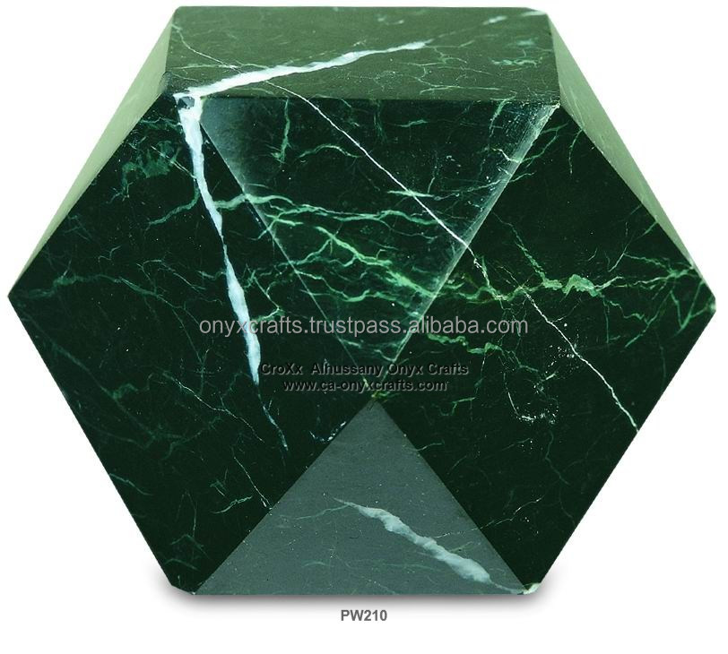 Diamond Shaped Marble Paper Weight