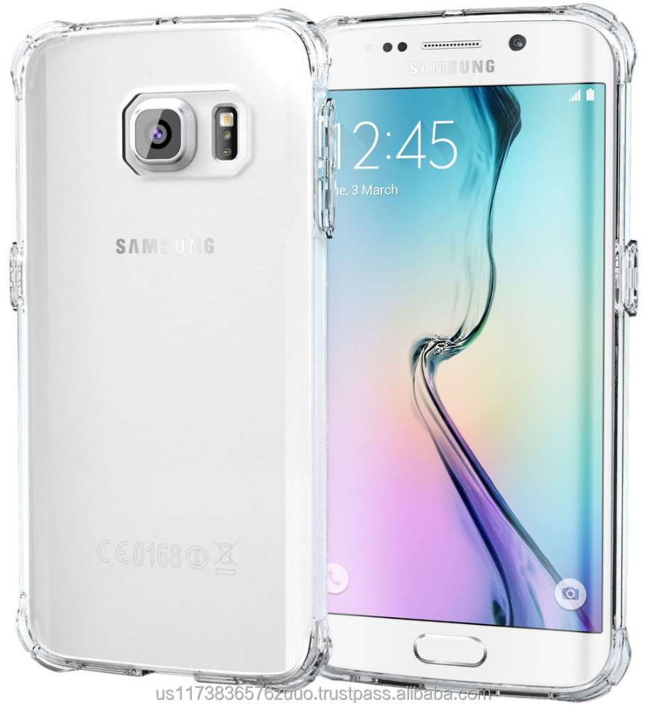 Ultra Slim Fit Clear Back Protective Hybrid PC / TPU Impact Protection, Dual Layer Case for Galaxy S6 Edge roocase (Clear)