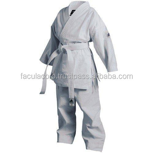 White Color Brazilian Gi jiujitsu Uniform100% Cotton Jiu Jitsu gi Kimonos, Karate Uniform FS-77-102