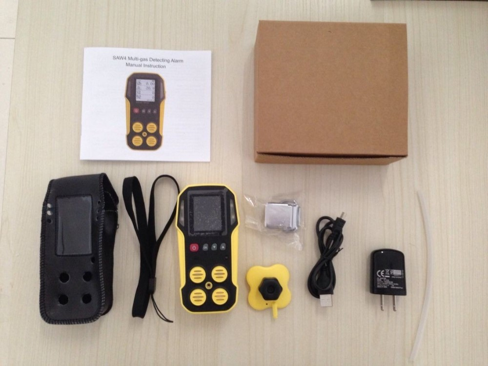 Data Loggers And Natural Gas Detectors : Data logging ch lel co o h s portable multi gas detector