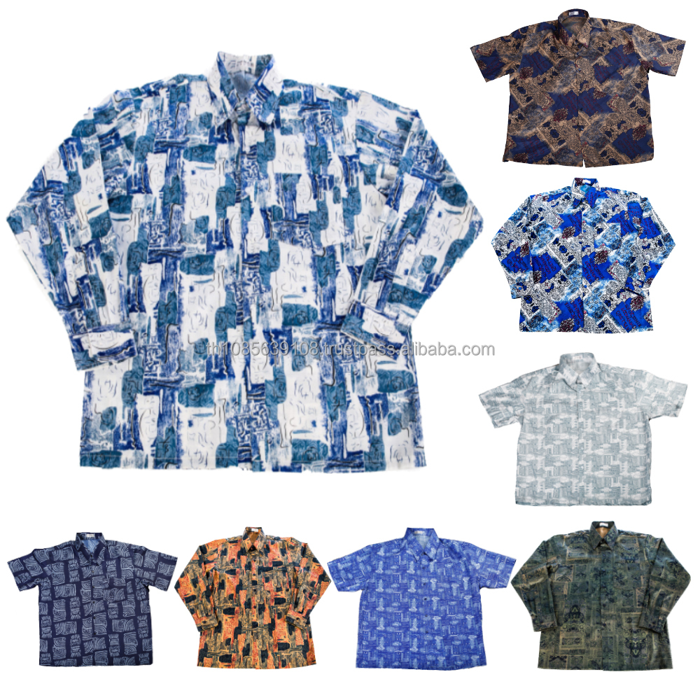 Thai Silk Mens Patterned Shirts/Casual Paisley Vintage Hawaiian